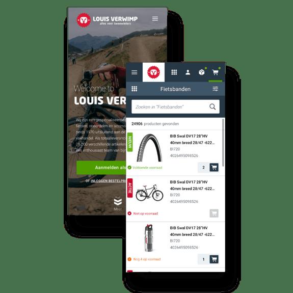 B2 B webshop and dealer portal - Mobile view Louis Verwimp
