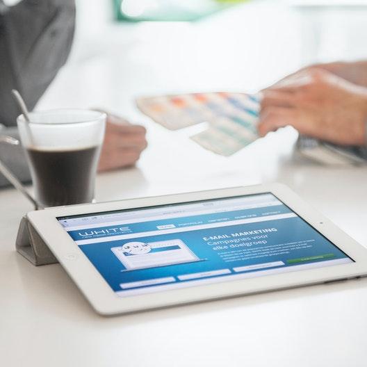 WHITE - Tablet version of website