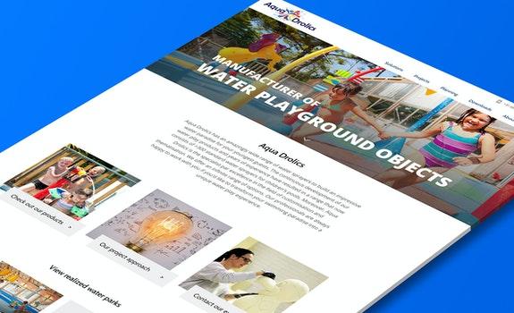 Aqua Drolics - Corporate website - Craft CMS - Header