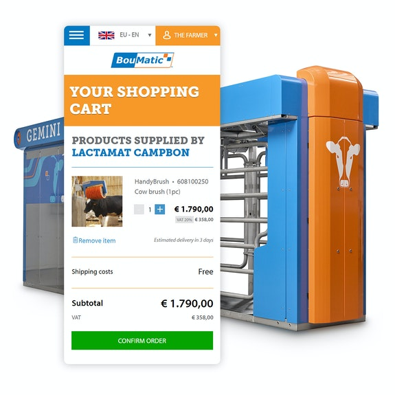 Boumatic - Global website met B2B webshop - Shopview