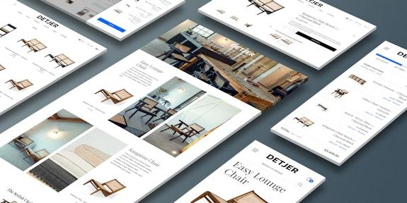 DETJER - B2B & B2C Webshop - Header