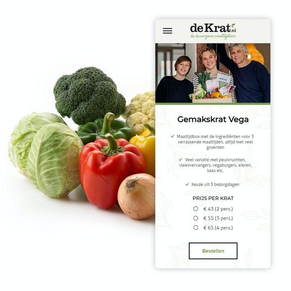 De Krat E commerce website Mobile shopping