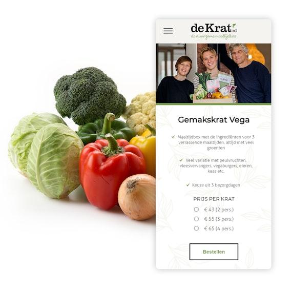 De Krat Ecommerce website Mobile shopping