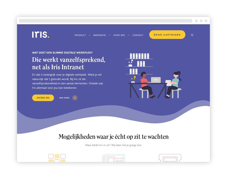 Iris Intranet Website - tablet view