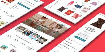 Kindermodehuis - Retail webshop - case Header