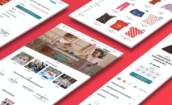 Kindermodehuis Retail webshop case Header