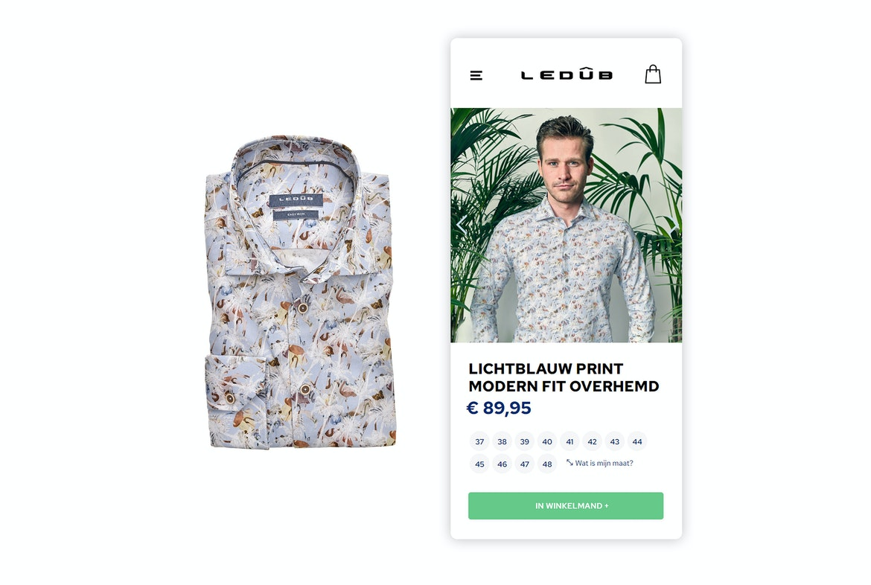 Ledûb Brand webshop Mobile shopping wide