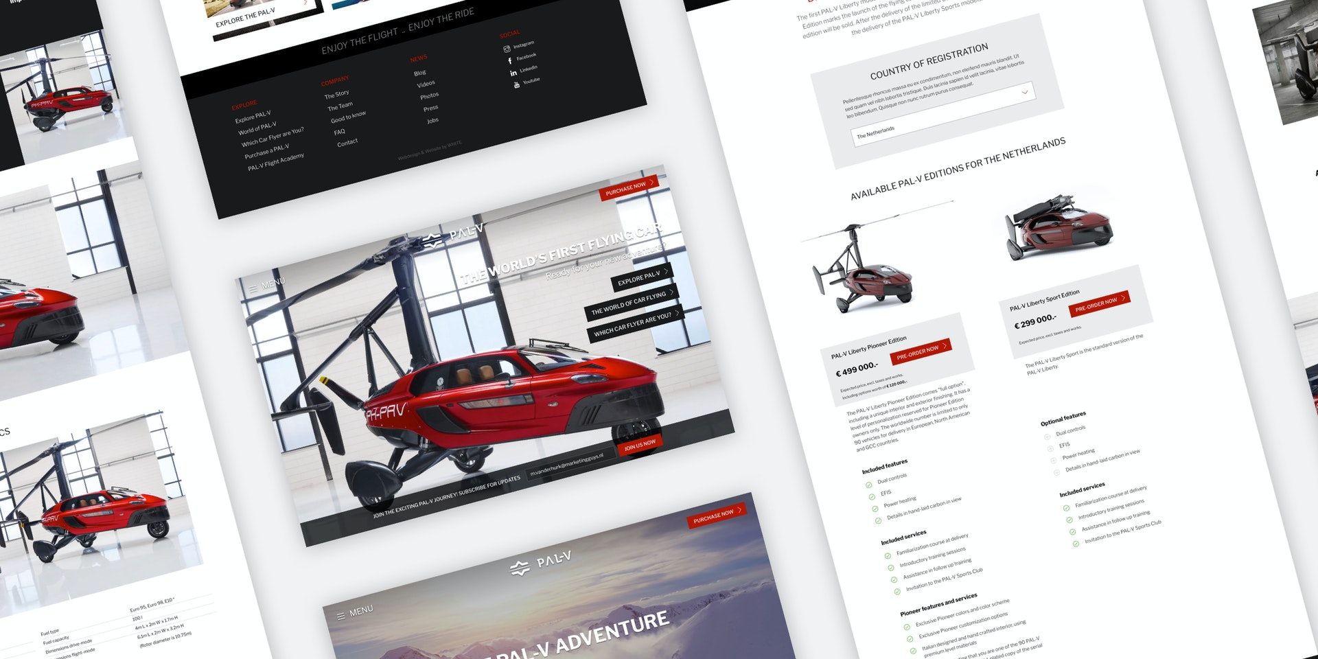PAL-V - Meertalige corporate website - Craft CMS project - Webpages