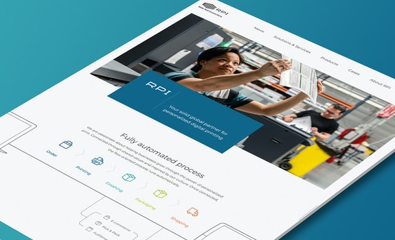 RPI Print - Corporate website - Craft CMS - Header