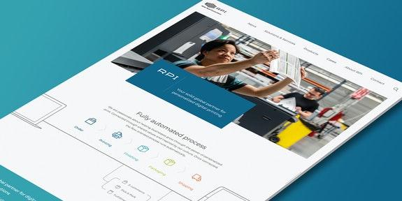 RPI Print - Corporate website - Craft CMS - Header