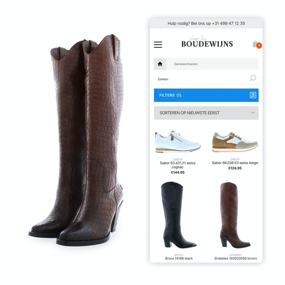 Shoes by Boudewijns - B2C webshop - Mobile shopping