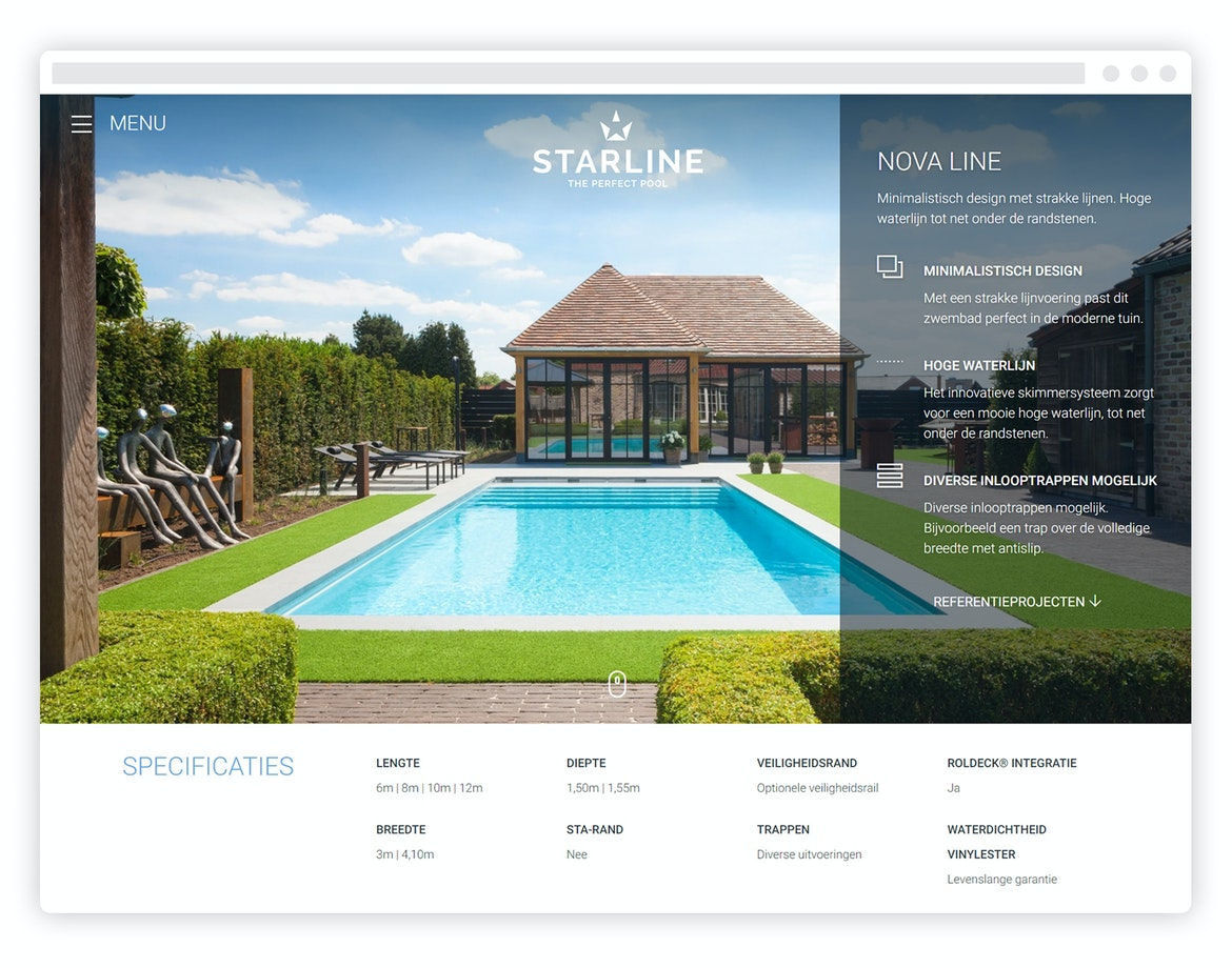 Starline - Corporate website - tablet view