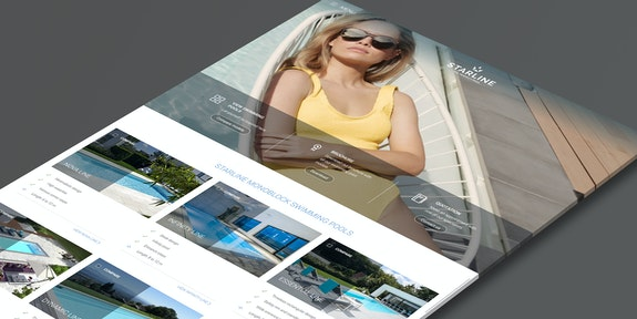 Starline Zwembaden Corporate website Craft CMS Header