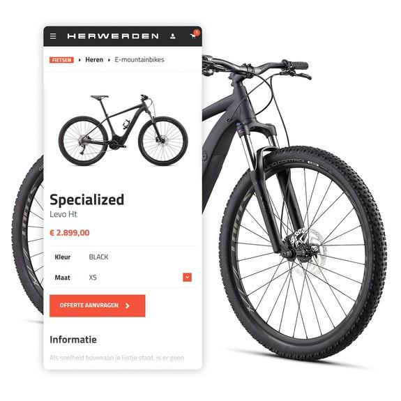 Van Herwerden - B2C webshop - Mobile shopping
